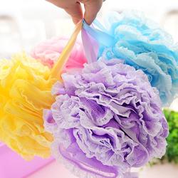 Promotional Multicolor Body rubbing Ball Baby Bath Sponges,PE Mesh Bath Sponge