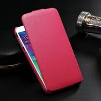 Fashion designer high quality leather cell phone case for Samsung Galaxy S5 I9600 litchi grain flip cover barrier free