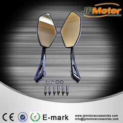 China High Quality Black Motorcycle Replacement Parts Plastic Motorbike Rearview Mirror motorcycle exporters