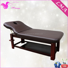 2015 hot sale wooden adjustable massage table beauty massage bed with cabinet