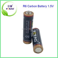 Environmental-friendly UM3 R6 AA Zinc-Carbon Battery 1.5V