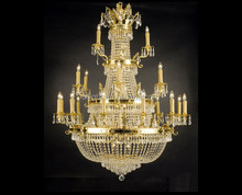 24K golden plated decorative classic crystal bright light