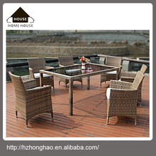 Hot sale PE rattan garden table &chairs, poly rattan outdoor furniture