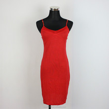 Wholesale Custom LQ8DR06003 latest new Fashion Braces Dress Red color Sexy Bandage Dress