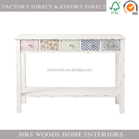antique white pine console table furniture