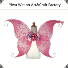 Fashion design wholesale pink butterfly wing for kids party decorate butterfly BW-051