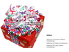Stick On box colorful 100% polyester christmas gift wrap packaging