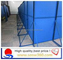 Galvanised Channel hoarding combines Steelwall colorbond panel fence(factory)