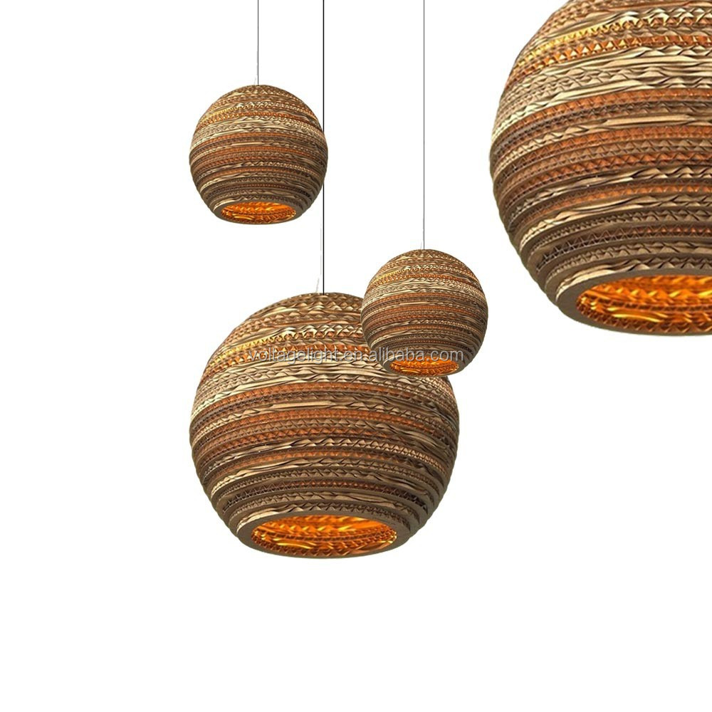 decorative modern pendant light recycled cardboard pendant