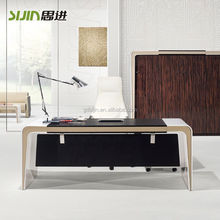 2015 Modern executive white high gloss office desk
