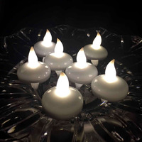 Warm white Flicker LED Water Floating Tealight Candle for Event Decoration