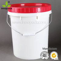 Factory price 20L white plastic ice bucket with Screw top