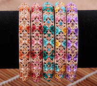 China style vintage elaborate carving bracelet colorful fashion jewelry for 2015