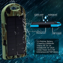 New arrival 2015 new competitive waterproof solar power bank for iphone 6