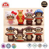 monkey figurines same faces different actions plastic custom wholesale