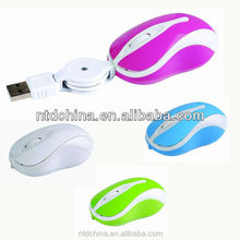 usb retractable mouse, high quality optical mouse