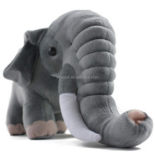 Various colours standing elephant plush toy