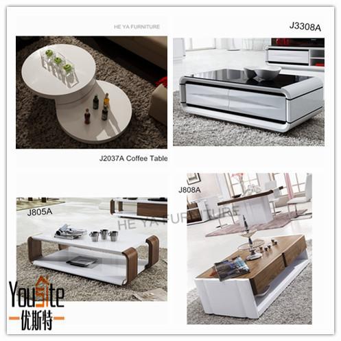 현대적인 디자인 섬유 유리 커피 테이블 높은 광택 그림-커피 ...