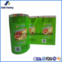 Laminated material plastic cookie snack buiscuit packaging film roll/Plastic Foil Packaging Roll Film For Cookie Food
