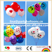 2015 Hot Sale Wholesale Printing Advertising Latex Balloons