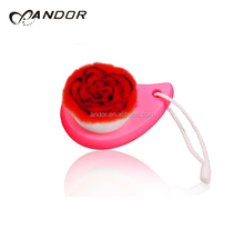 Comfortable massage rose flower shape facial cleaning brush for beauty
