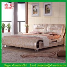 Promotion pink leather diomand double bed factory price