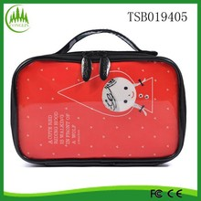 new product wholesale YiWu promotional polyester red cosmetic case
