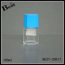 100 ml bouteille en verre avec pompe de pulvérisation et bleu de parfum bouteille