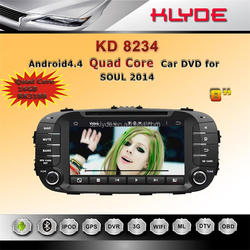 Android car stereo system with gps navigation for kia soul