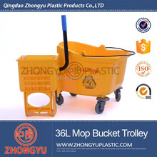 Plastic Mop Bucket with Wheels