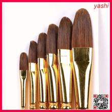 YASHI Professional Artists Filbert Nylon Synthetic Painting Brushes Wood Art Painting Brush