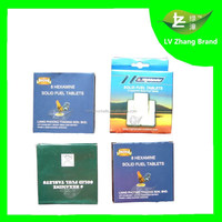 High Quality Smokeless and tasteless 8pcs Hexamine Solid Fuel Tablets