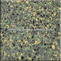 New green quartz stone, artificial stone kitchen top, slab