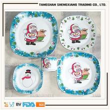 various designs square porcelain 2015 newest Christmas dinnerware set