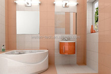 wall mounted bathroom/room wire rack with mirror
