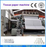 2640mm waste paper, high grade deinking, hardwood pulp high speed toilet tissue paper jumboo roll making machinery, 7-8 T/D