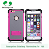 China Manufacturer Best Price anti-friction 3 in 1 dual layer case with kickstand TPU PC Silicon custom case for Apple iphone5 6