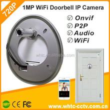 PIR 1.0mp p2p wireless wifi indoor viewer peephole door camera ip