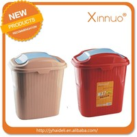 household plastic waste can PP rubbish bin wholesale plastic dustbin with lid
