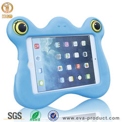 cartoon frog design shock proof kids case for ipad mini,for ipad mini eva case