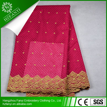 2015 Wholesale african mesh lace fabric/ nigerian swiss cotton lace all colors thanksgiving