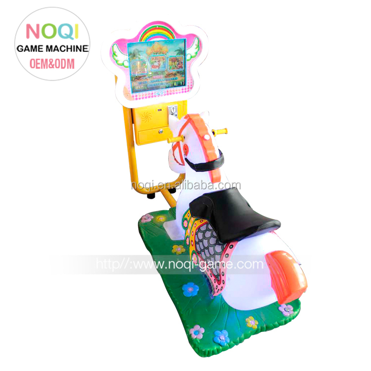 الأطفال 3d عملة تعمل ممر لعبة آلة محاكاة سباق الخيل