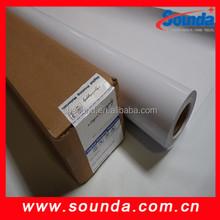 Grey back matt white vinyl UV printing vinyl