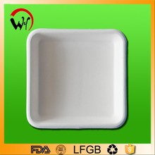 CE/FDA/LFGB Passed wheat straw round biodegradable paper plate