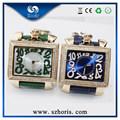 jewelly qualité supérieure en acier inoxydable montres cadran bleu pour la dame