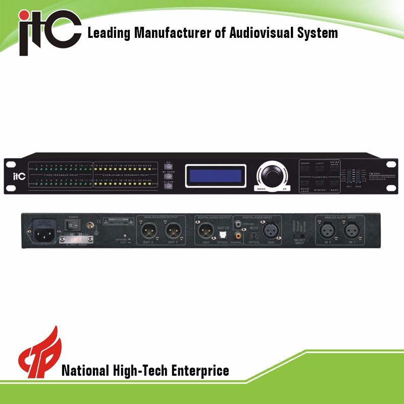 ITC TS-224 전문 사운드 시스템 내부 지능형 피드백 제거기