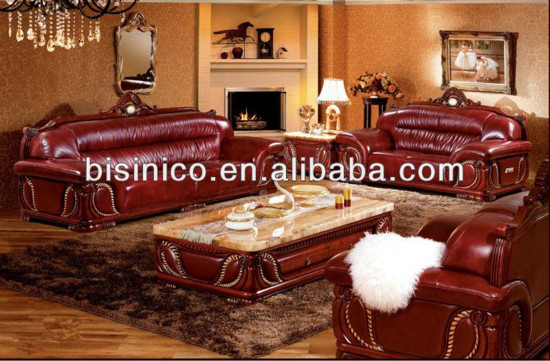 marbre Table basse, Asie du sud  loisirs canapé en cuir véritable