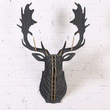 African wooden Reindeer head carving/animal wall hanging decoration