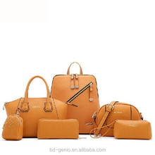 fashion handbags 2015---6pcs in 1 set style, fashion ladies handbag