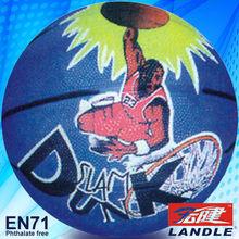 Hot sale rubber globe football logo with cartoon customized photo indoor basketball